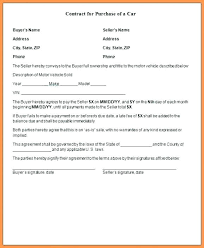 Daycare Contract Template Take Over Car Payment Agreement Form Finance Contract For