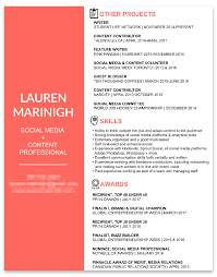 Social Media Resumes How To Write A Marketing Resume That Will Help Land Your Dream Job