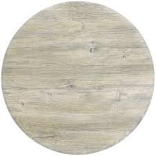 grosfillex 99831071 30 round white oak outdoor molded melamine table top