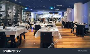 Restaurant Kitchen Furniture Modern Amsterdams Restaurant Open Kitchen Stock Photo 124542496