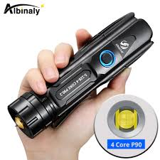 Siêu Sáng XHP90 Đèn Pin Led Chiến Thuật Đèn LED Chống Nước Đèn Pin 5 Chế Độ  Chiếu Sáng Phóng To Với Hiển Thị Pin Và Nguồn Điện Đầu Ra Đèn Pin LED