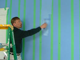 paint overp tape line with semigloss paint