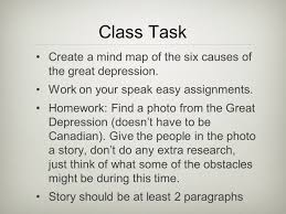 intro to the great depression ppt video online  class task create a mind map of the six causes of the great depression work