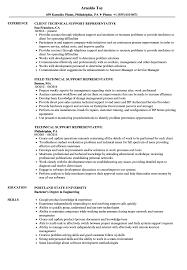Technical Support Representative Resume Samples Velvet Jobs