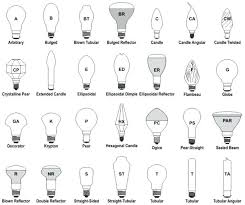 Light Bulb Shape And Size Chart Different Light Bulb Shapes Seragam Co