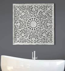 white color handcarving on wood wall decor wall sculpture by craftter