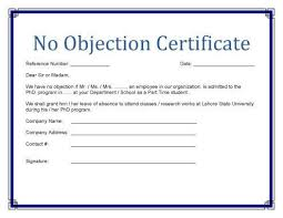 Has No Objection Impressive Image Result For No Objection Certificate Format Example