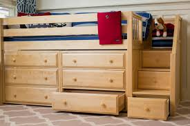 kids storage bed. NaturalLowLoft-Drawer Kids Storage Bed