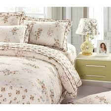 country fl lacy cotton 4 piece duvet cover set french country style duvet cover country duvet