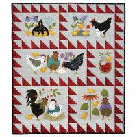 Wall Hanging Kits - Quilting - Sewing & HERE A CHICK THERE A CHICK FLANNEL QUILT TOP KIT Adamdwight.com