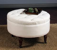 round fabric storage ottoman coffee table  coffee tables decoration