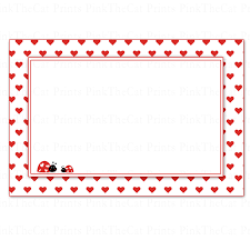 Printable Note Cards Printable Blank Valentines Love Day Note And 13 Similar Items