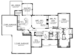 ranch house plans with sunroom beautiful ranch style open floor plans with basement of ranch house