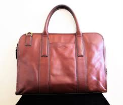 mens fossil leather briefcase bag work laptop bag new york city fossil