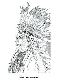Cool Design American Indian Coloring Pages Native Color In Colouring