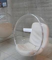 Standing Bubble Chair with Chrome Finish