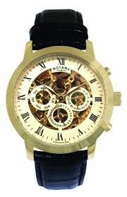 rotary mens gold plated skeleton watch gs02375 01 rotary gs02375 01 rotary watches