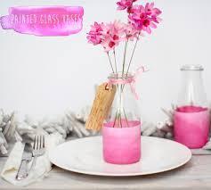 Milk Bottle Decorating Ideas Think Pink Painted Bottle Vases 12