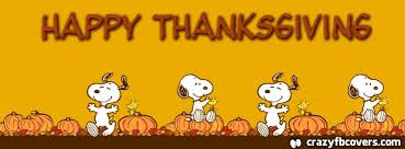 snoopy happy thanksgiving facebook cover facebook timeline cover photo fb cover