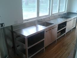 Stainless steel sinks and counters Counter Tops Stainless Steel Restaurant Set Comm5zoom Work Table Unit Search Viewer Hgtv Stainless Steel Commercial Kitchens Steelkitchen
