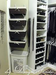 add space to your master closet unused wall and put some simple baskets storage ideas for