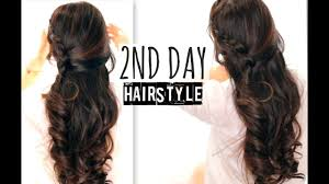 Cute 2nd Day Hair Crossover Braids Hairstyles Tutorial Curly