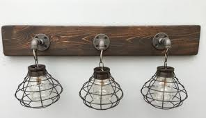 rustic bathroom lighting fixtures. Rustic Bathroom Lighting Fixtures Simple Vanity Light Fixture 2 Within Bath Decor 8 L