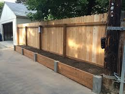 concrete post raised garden beds