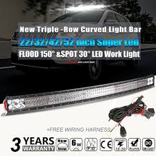 Autofeel Led Light Bar Autofeel Super Bright 3 Row Curved Led Light Bar 22 32 42 52