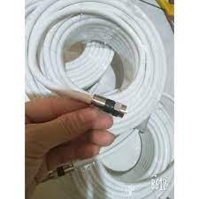 Dây cáp TV đồng trục 10 mét - 30 mét (bấm sẵn rắc) - Dùng để kết nối ang  ten hoặc chia tín hiệu truyền hình - Phụ kiện Tivi Nhãn hàng No Brand