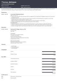 Investment Banking Resume Template Guide 20 Examples