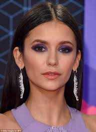 lady in lavender nina dobrev 27 wowed in purple eyeshadow that matched her