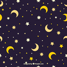 Moon Pattern New Star And Moon Pattern Vector Free Download