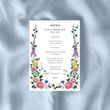 Invitation Template - 'Cottage Garden' Design — Olive Sims