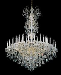 new orleans 45 light 110v chandelier in rich auerelia gold with clear heritage crystal