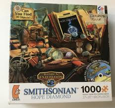 Interact with a colorful cast of characters that have been trapped in time, and save the day! Ceaco Smithsonian Hope Diamond Hidden Object 1000 Piece Jigsaw Puzzle New 14 99 Picclick