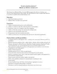 Server Job Description For Resume Unique Job Description Medical Administrative Assistant Medical