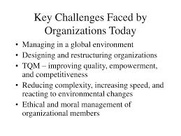 Basic Challenges Of Organizational Design Ppt Key Challenges Faced By Organizations Today Powerpoint