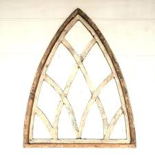 cathedral window frame arched wood wall decor for arch metal filigree