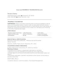 Resume For Pharmacy Technician Resume Pharmacy Technician Duties Sample Here Are Example Images