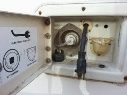 my u haul camper blog camper electrical part 1 utility hookukp box on driver side of uhaul camper water and electric