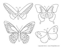 Butterfly Outline Coloring Page Butterfly Outline Coloring Page