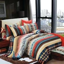 indian print duvet covers blue brown beige and c vintage style exotic pattern color tribal stripe