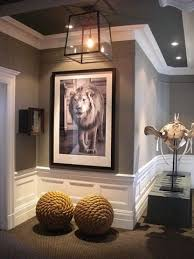 thick white molding grey ceiling walls very very nice