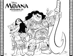 Disney Moana Coloring Pages Are Now