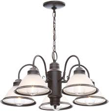 this commercial electric 5 light chandelier is beautifully crafted in a restoration look of yester year finished in oil rubbed bronze it will be a great