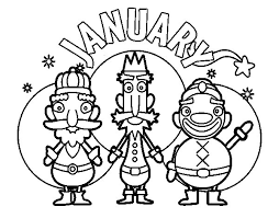January Coloring Page Coloringcrew Com