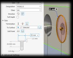 Drill Point Length Chart To Create Holes Inventor 2019 Autodesk Knowledge Network