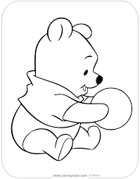 Free printable coloring pages for children that you can print out and color. Baby Pooh Coloring Pages Disneyclips Com