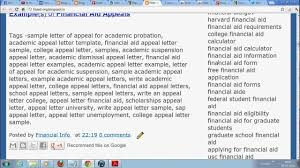 Free Academic Appeal Sample Letter For College And Universities ...